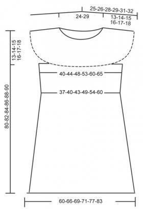 Летнее платье с круглой кокеткой - Выкройка 1