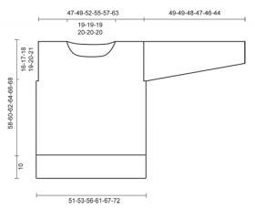 Джемпер спицами платочной вязкой и ажуром - Выкройка 1