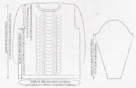 Пуловер Пандора - Выкройка 1