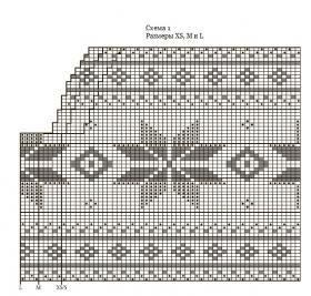 Свитер спицами со снежинками - Схема 1