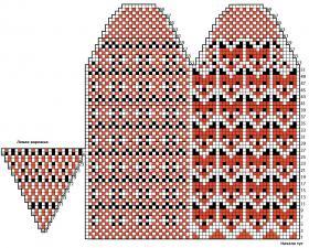 Варежки спицами с орнаментом - Схема 2