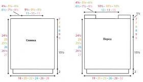 Топ чулочной вязкой по диагонали - Выкройка 1