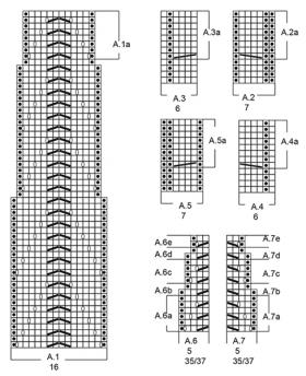 Гольфы белые жгуты - Схема 1