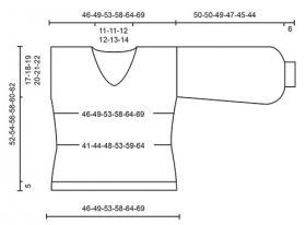 Пуловер Фламенко - Выкройка 1
