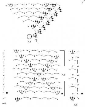 Кардиган Белый берег - Схема 2