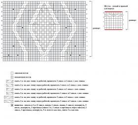 Приталенная безрукавка с шишечками - Схема 1