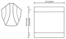 Болеро серый шелест - Выкройка 1