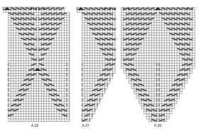 Легкая шаль с ажурными листьями - Схема 4