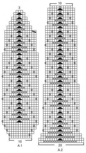 Комплект Золотые листья - Схема 2