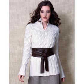 Роскошный белый пуловер