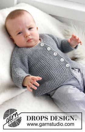 Жакет спицами связанный поперек для малыша