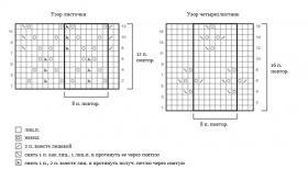 Ажурный топ спицами на завязках - Схема 1