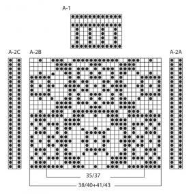 Жаккардовые носки спицами - Схема 1