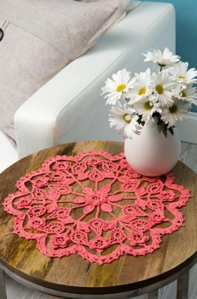 Салфетка утонченный цветок