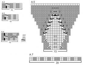 Манишка солнечный свет - Схема 1
