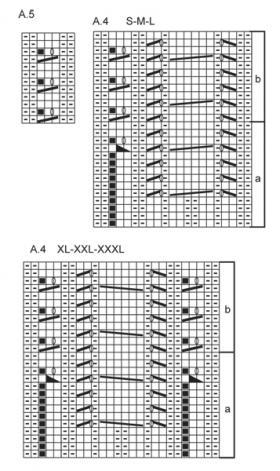 Приталенный жакет реглан с узорами - Схема 3