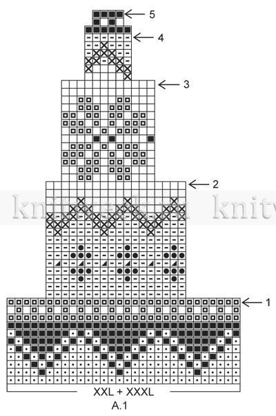схемы узоров спицами кокеток