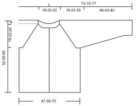 Жакет спицами с ажурным узором - Выкройка 1