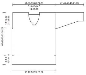 Пуловер Матрос - Выкройка 1