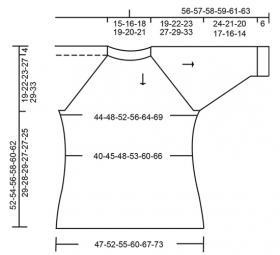 Пуловер Драгоценные камни - Выкройка 1