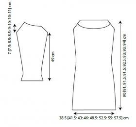 Белое ажурное платье из мохера - Выкройка 1