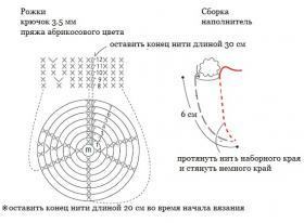Белый козлик крючком - Схема 7