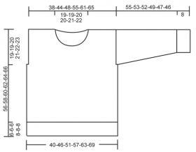 Джемпер спицами с ажуром и жаккардом - Выкройка 1
