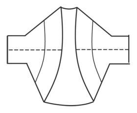 Болеро крючком фантазийным ажурным узором - Выкройка 2