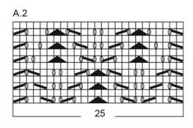 Носки розовая камелия - Схема 1