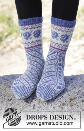 Жаккардовые носки с диагональным узором