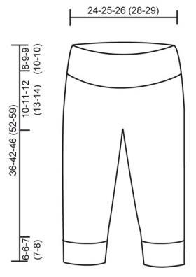 Теплые детские штаны - Выкройка 1