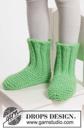 Домашние носки платочным узором и резинкой