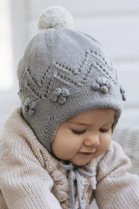 Двойная шапка Снежная ягода