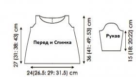 Платье с узором рис на кокетке - Выкройка 1