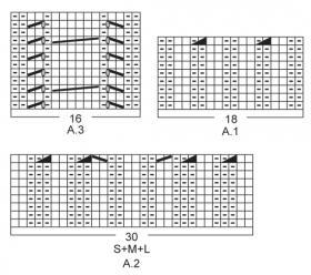 Двубортный жакет спицами на пуговицах - Схема 2