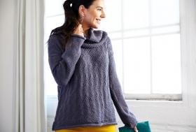 Пуловер легкий шик со съёмным воротником - Фото 1