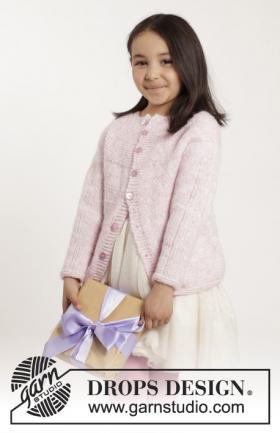 Теплая кофта с круглой кокеткой для ребенка
