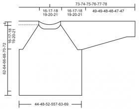 Свитер реглан с большими аранами - Выкройка 1