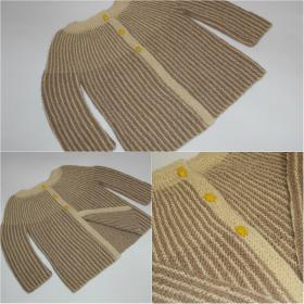 Жакет связан по данному описанию  http://knitweek.ru/modeli/kostyum-dlya-malysha-platochnym-uzorom.html#lt-comm-1935  Размер 1/1,5 года Использовалась пряжа DROPS Alpaca (100% альпака, 50 г/167 м)