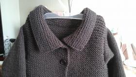 Стильное пальто-кардиган для маленькой модницы-брюнетки#3