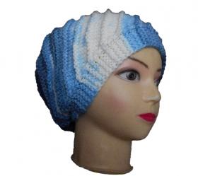Спиральная шапочка спицами