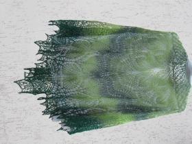 """Шаль """"Альберта"""", 100% шерсть Kauni Green, 180 на 90 см, 100 грамм"""