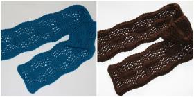 Ажурные шарфики.  Использовалась пряжа Alize Lanagold Plus (49% шерсть, 51% акрил; 100гр/140м)