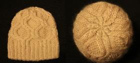 Женская шапочка с ромбами  Использовалась пряжа: Color City Snow Leopard (30% мохер, 60% австралийский кашемир, 10% акрил; 180м/100гр).