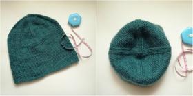 От вязания джемпера осталось немного пряжи и я сделала себе шапочку бини )))  Использовалась пряжа DROPS KARISMA (100% шерсть, 50 г/100 м).