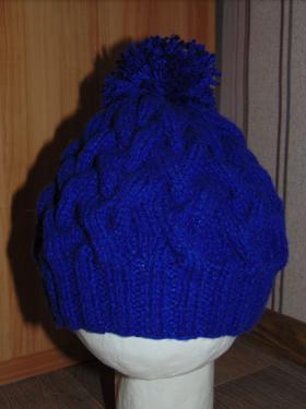 шапка из толстой пряжи для племянницы