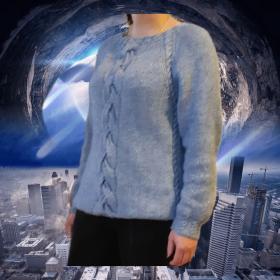 Ализе Лана Голд Симли, спицы 6,в 2 нити около 400 гр, размер 48/54