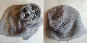 Большой, воздушный и пушистый шарф: длина 204см, ширина 43 см  Использовалась пряжа DROPS VIVALDI (56% мохер, 30% полиамид, 14% шерсть; 50 г/280 м).