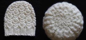"""Женская шапочка с """"цветочными"""" жгутами  Использовалась пряжа: Color City Snow Leopard (30% мохер, 60% австралийский кашемир, 10% акрил; 180м/100гр)."""