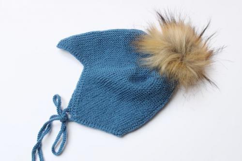 шапка платочным узором для малыша
